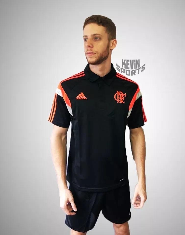 d27c737196be7 Camisa Polo Flamengo Adidas Viagem 2014 - Kevin Sports