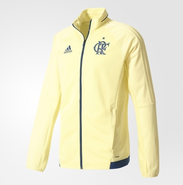 Casaco Flamengo Adidas Treino Amarelo - Kevin Sports 24607108fde28