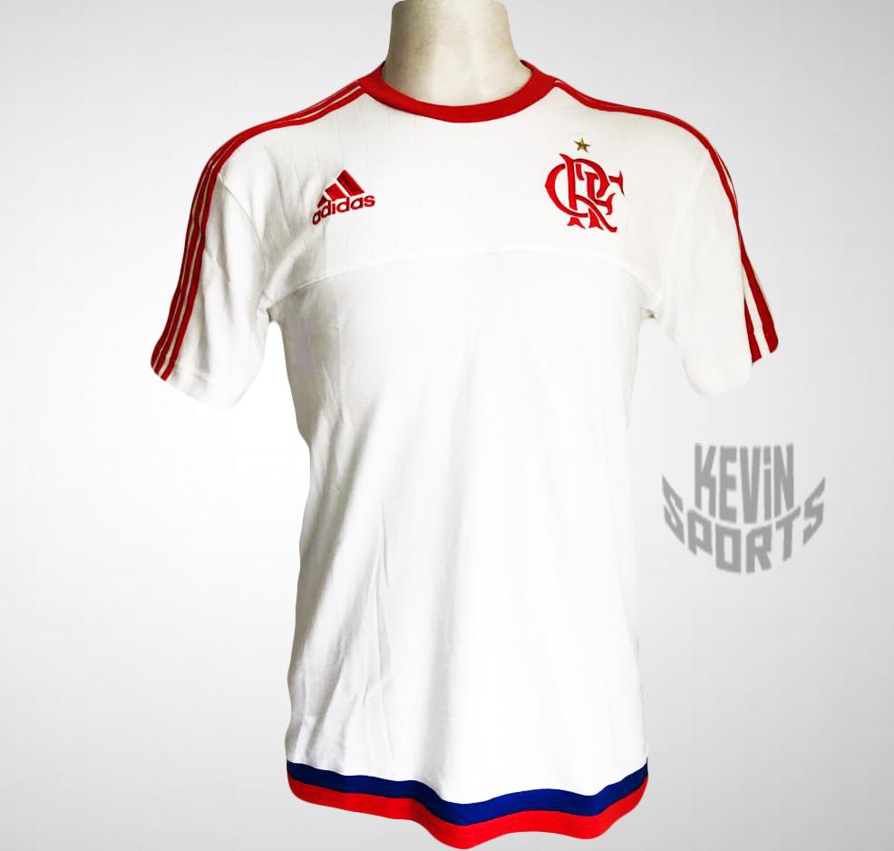Camisa Adidas Branca Flamengo Viagem - Kevin Sports 39584da1b5969