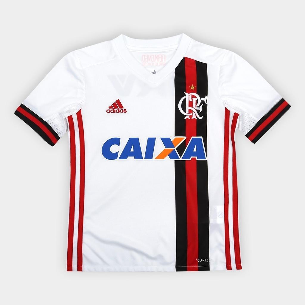 ba0293a3f0 Camisa Infantil Flamengo Adidas II 2017 2018