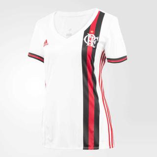 752438fce1870 Camisa Feminina Flamengo 2017 Branca Sem Patrocínio
