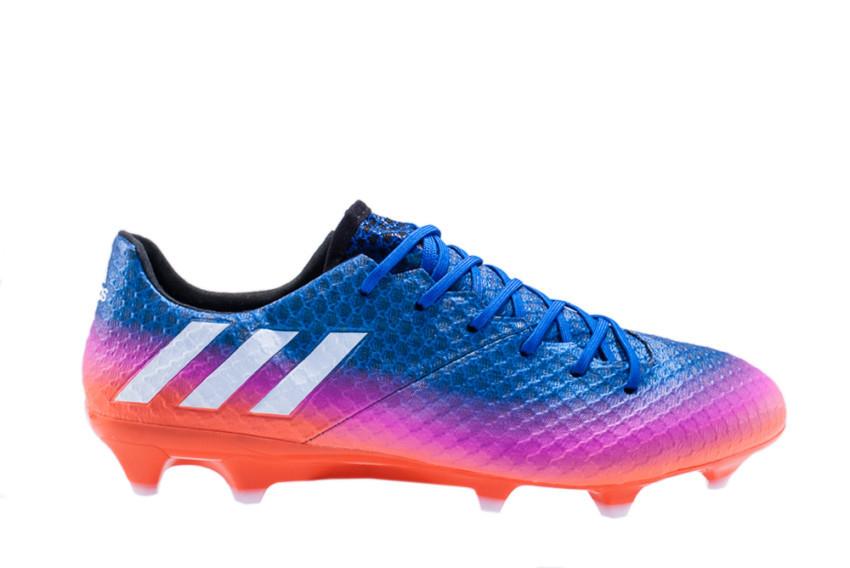3d52640d5d5c4 Chuteira Adidas Messi 16.1 Campo - Azul e Rosa BB1879
