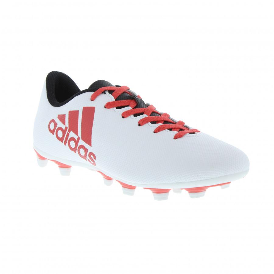 89af032b98 Chuteira Campo Adidas X 17.4 FXG - Branco e Vermelho - comprar online