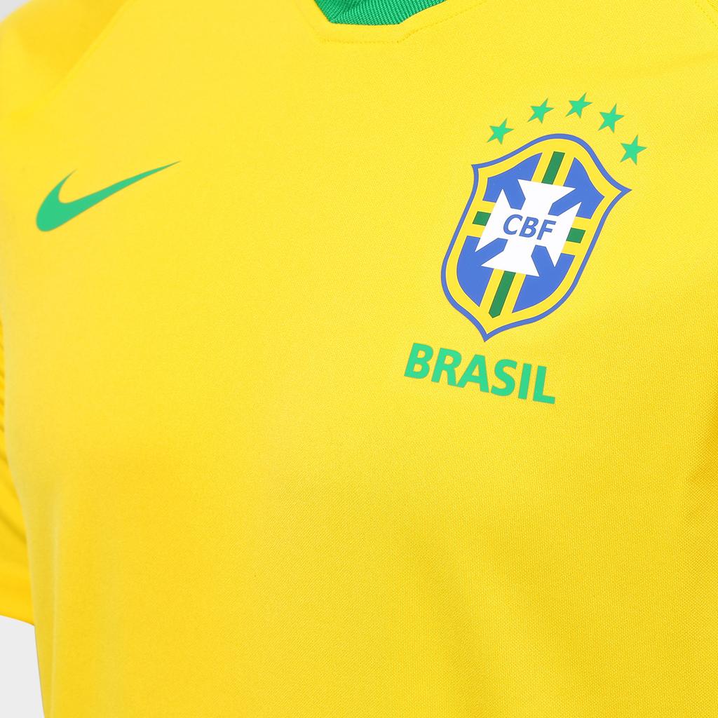 e4eebdc696 Camisa Seleção Brasil I 2018 s n° - Torcedor Estádio Nike Masculina -  Amarelo