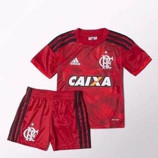 Kit Flamengo Infantil III 17 18 Adidas - Amarelo 93eb19ec3b257