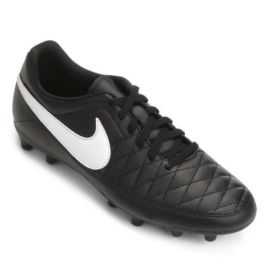 ce9e7a9fd56f1 Chuteira Campo Nike Majestry FG - Preto - Kevin Sports