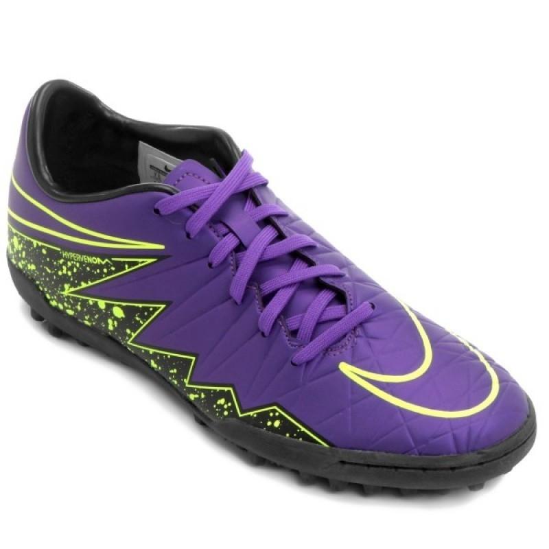 6baef90df0d2c Chuteira Nike Hypervenom Phelon II Society - Roxo e Verde
