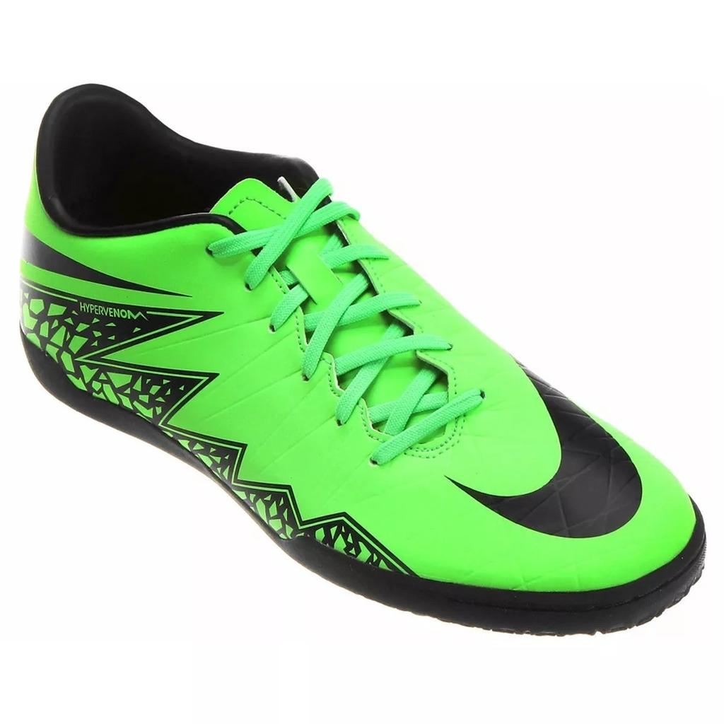 e6a13a9d5e0a1 Chuteira Nike Hypervenom Phelon II IC Futsal - Verde