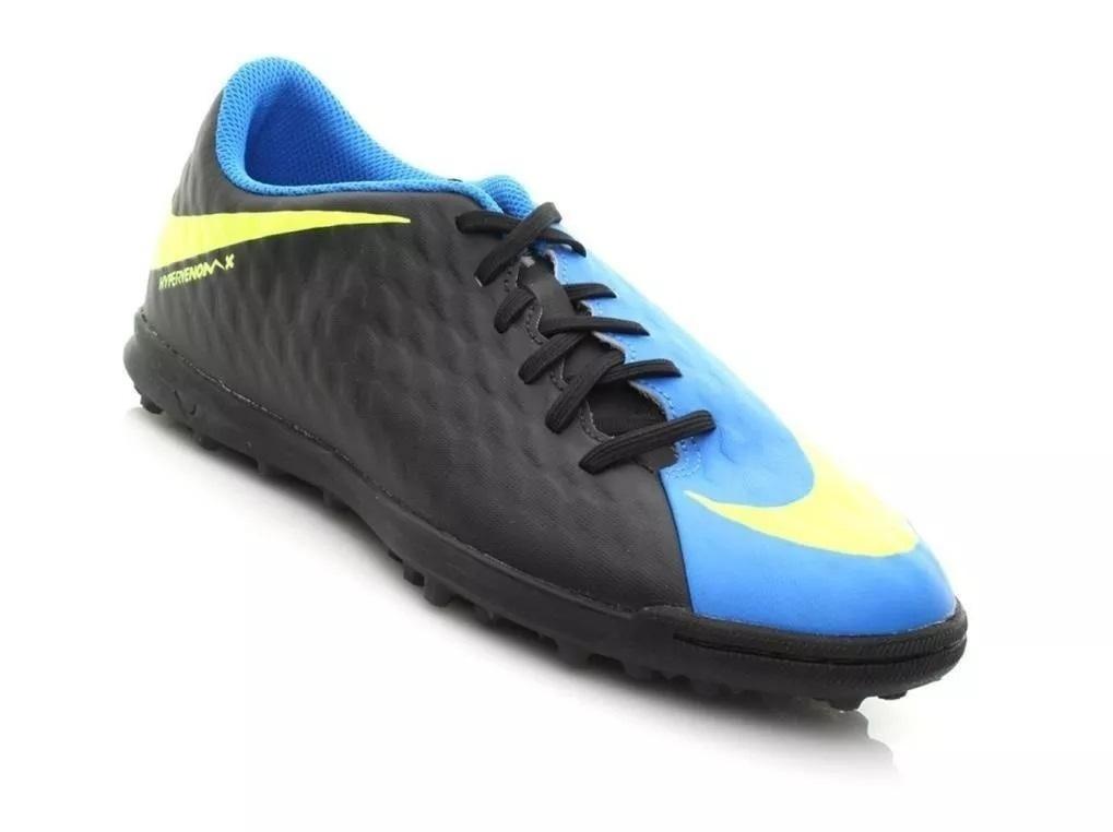 7da0706ab3692 Chuteira Society Nike Hypervenom X Phade III – Preto e Azul