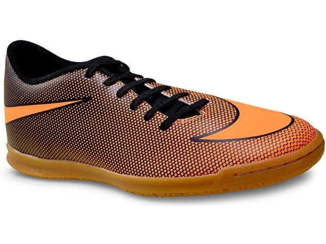 fa911b97b56 Nike Bravata II IC Preto laranja - Kevin Sports