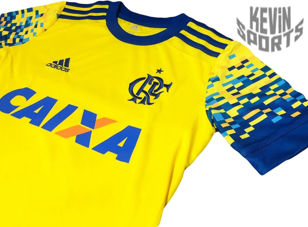 2565423dc2 Camisa Infantil Flamengo Adidas III 2017 Amarela - comprar online