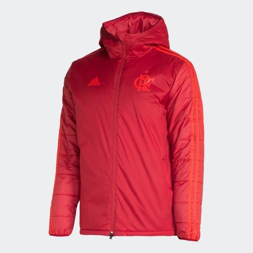 a0f4f71abc1 Casaco Acolchoado Flamengo Adidas 2018 Vermelho