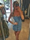 Vestido estilo jumper Denim