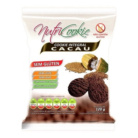 Cookie Integral Cacau Nutri Cookies 120g