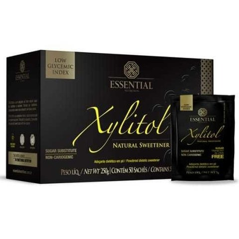 XYLITOL 50 sachês ESSENTIAL NUTRITION