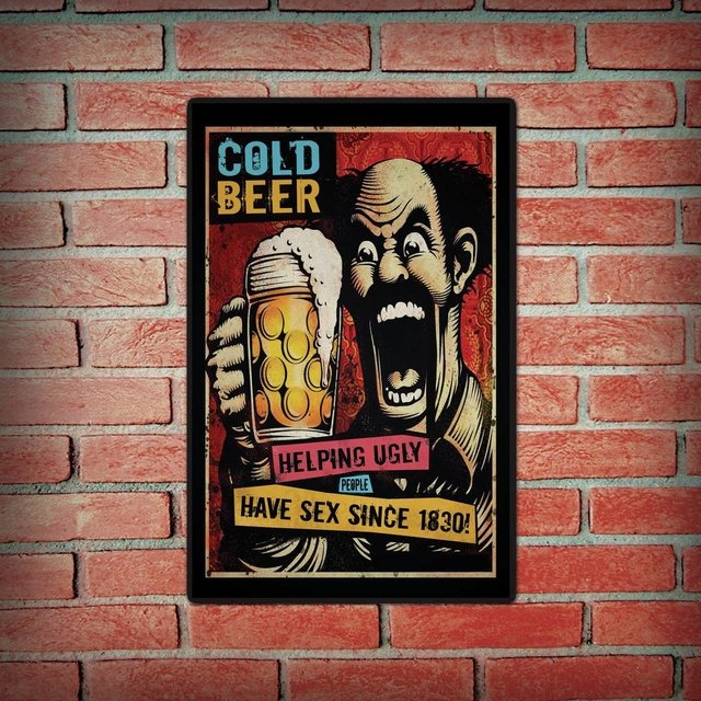Placa Decorativa -Cold Beer - comprar online