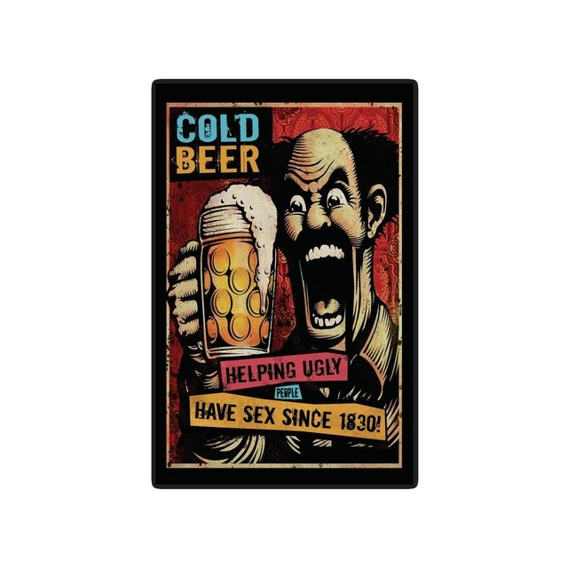 Placa Decorativa -Cold Beer