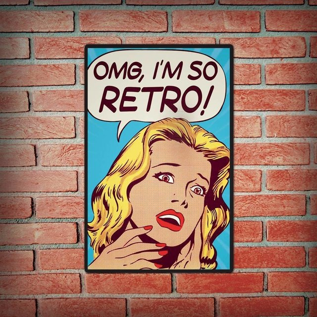 Placa Decorativa - OMG Im So Retro - comprar online