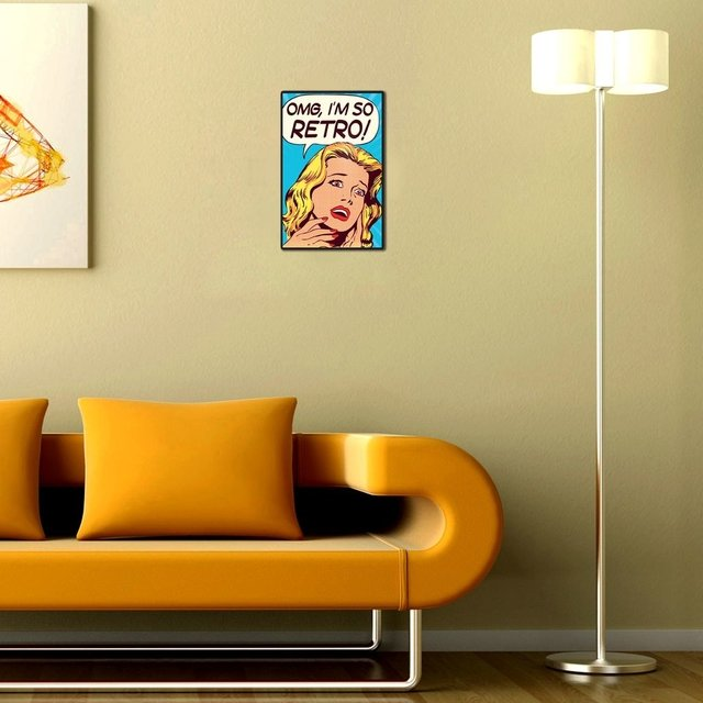 Placa Decorativa - OMG Im So Retro en internet