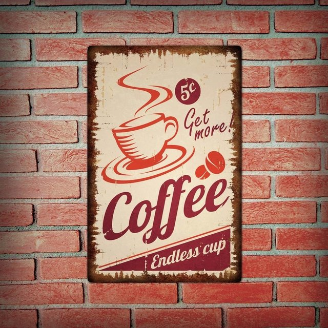 Placa Decorativa - Coffe Retro Oxidado - comprar online