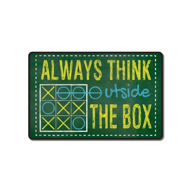 Placa Decorativa - Outside the Box - WEPAK