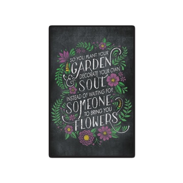 Placa Decorativa - Jardin Negro