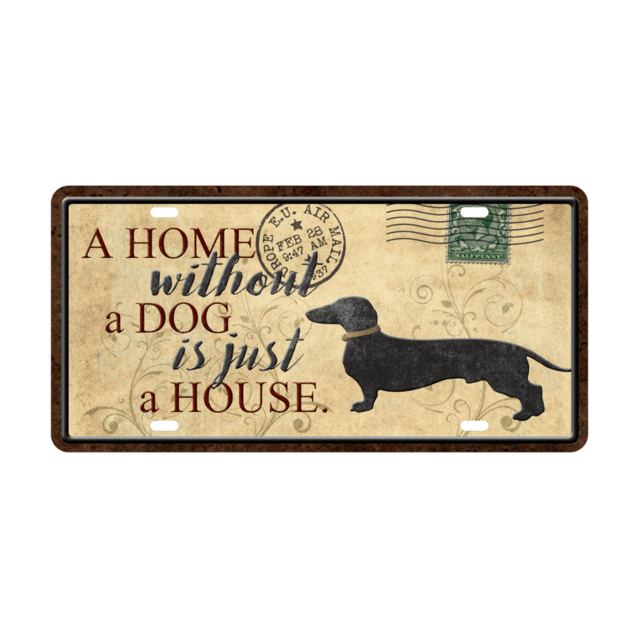 Placa Decorativa Patente de Auto - A Home Dog - comprar online