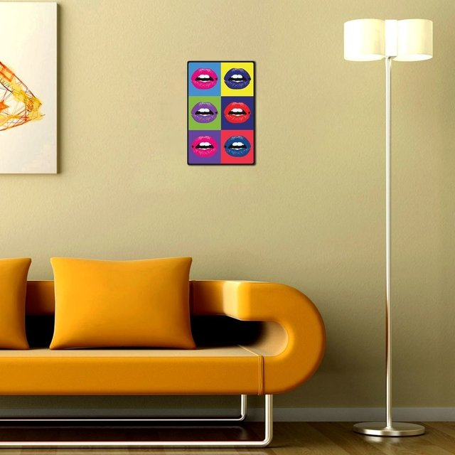 Placa Decorativa - Bocas Pop Art en internet