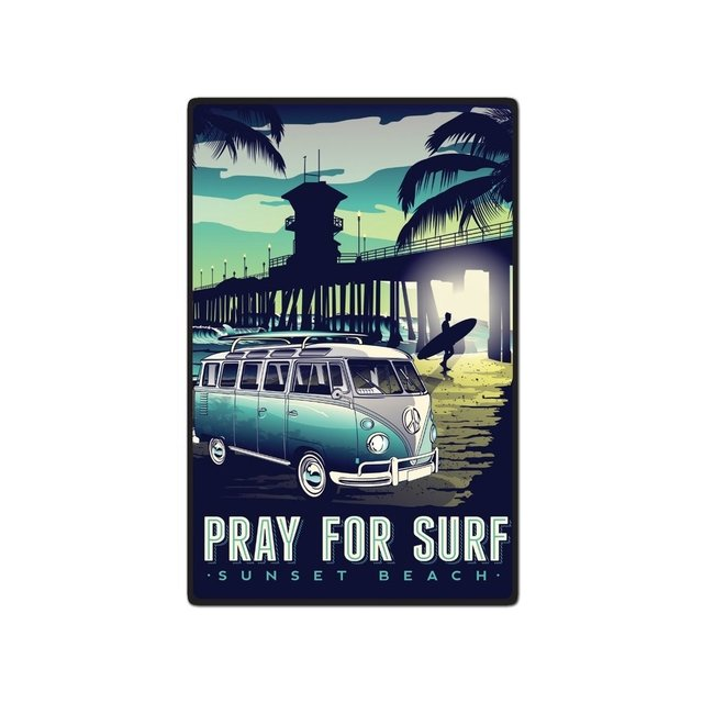 Placa Decorativa - Surf