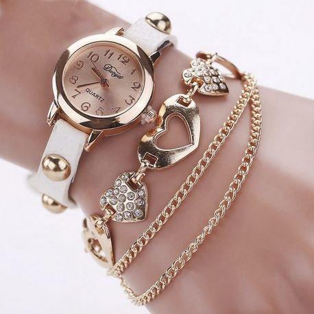 fefac4e7804 Relógio feminino pulseira coração - Fred Filó
