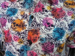 Camisa Skull Watercolor na internet