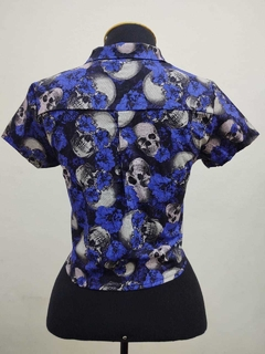 Cropped Skull Purple na internet