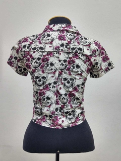 Cropped Skull Dark Purple - comprar online