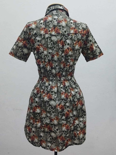 Vestido Skull Orange Flowers - VTC24 na internet
