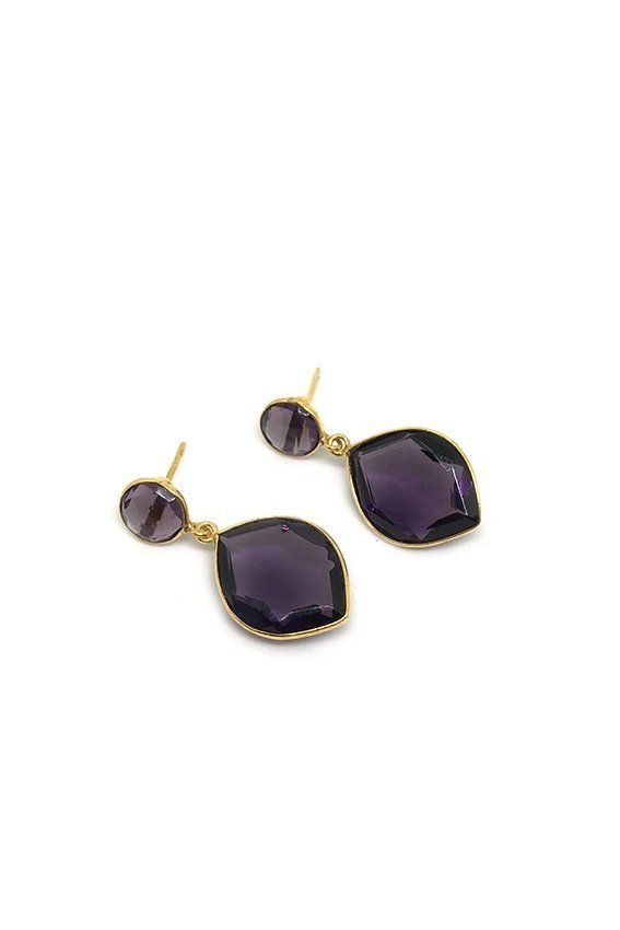 Aros CAPRI big double drop violeta