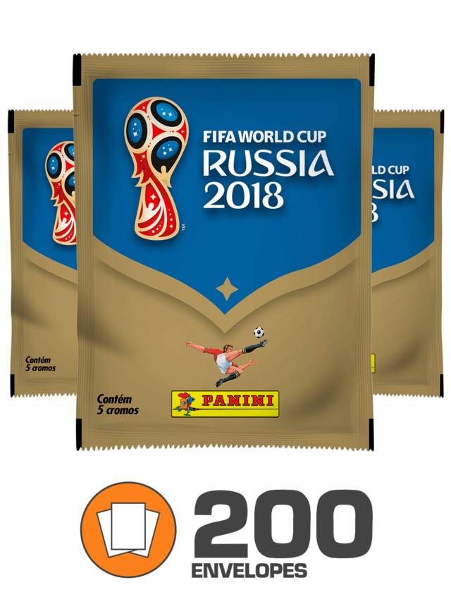 Copa do Mundo Rússia 2018 - Total  200 envelopes (1.000 figurinhas)