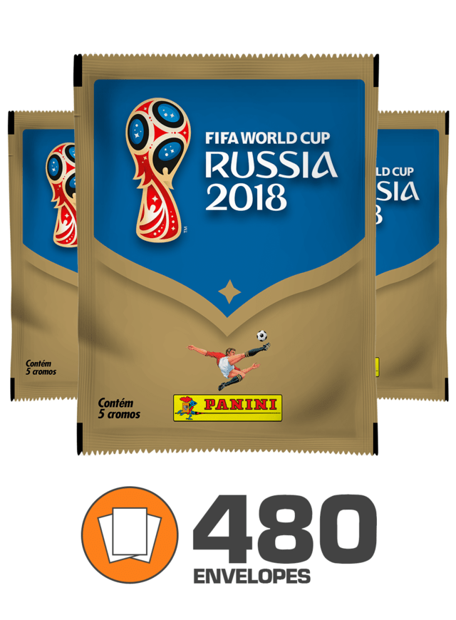 Copa do Mundo Rússia 2018 - 480 Envelopes (2.400 figurinhas)