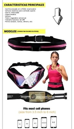 Riñonera Deportiva Impermeable Expandible Running Doble - comprar online