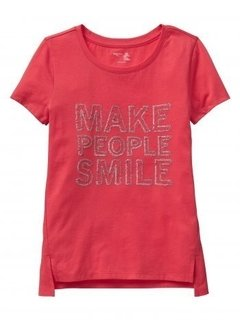 Camiseta GAP Manga Curta Make People Smile - comprar online