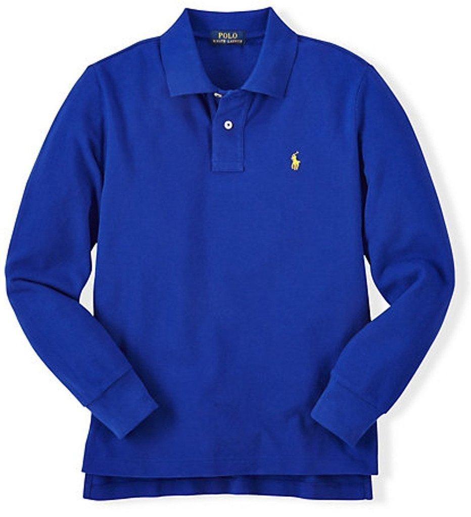 b7a1174053 Camisa Pólo Ralph Lauren manga longa Azul