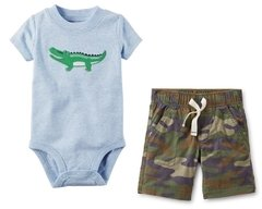 Kit Carter's Body Crocodilo e Bermuda Camuflada