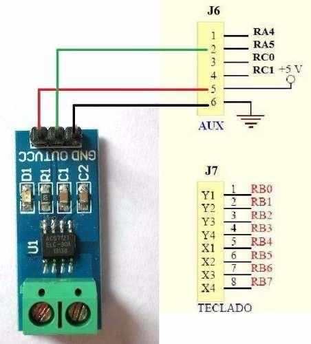 Inicio > Sensores > Sensor De Corriente ± 5a Efecto Hall Acs712 Arduino  Mona Sensor De Corriente ± 5a Efecto Hall Acs712 Arduino Mona