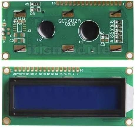 Display Lcd 1602 Hd44780 Backlight Azul 16x2 Ard Pic Mona - comprar online