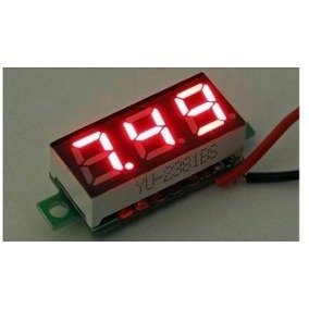 Voltimetro De Panel 3 Digitos 2.5v - 30v Display Rojo Mona