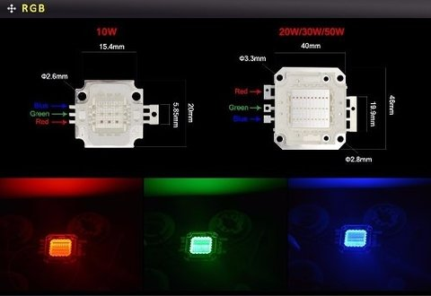 Led 10w Rgb 6000-6500°k Mona