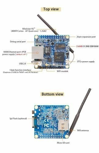 Mini Pc Orange Pi Zero Quadcore 1.2 Ghz Wifi Ethernet 256mb