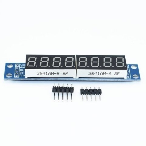 Display Max7219 Cwg 8 Digitos Rojo Arduino Mona
