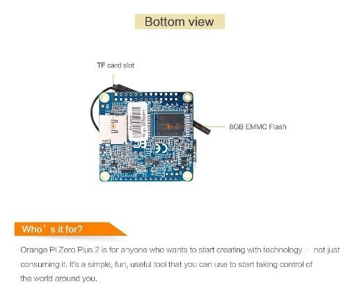 Orange Pi Zero Plus 2 Quadcore 1.2 Ghz Hdmi 512mb Ddr3 Mona - comprar online