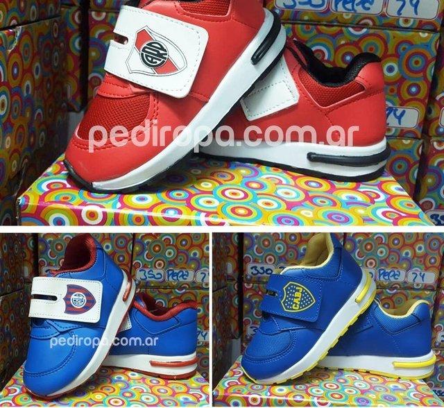Pack x 7 Zapatillas Niños equipo de futbol f27f63cd2f6