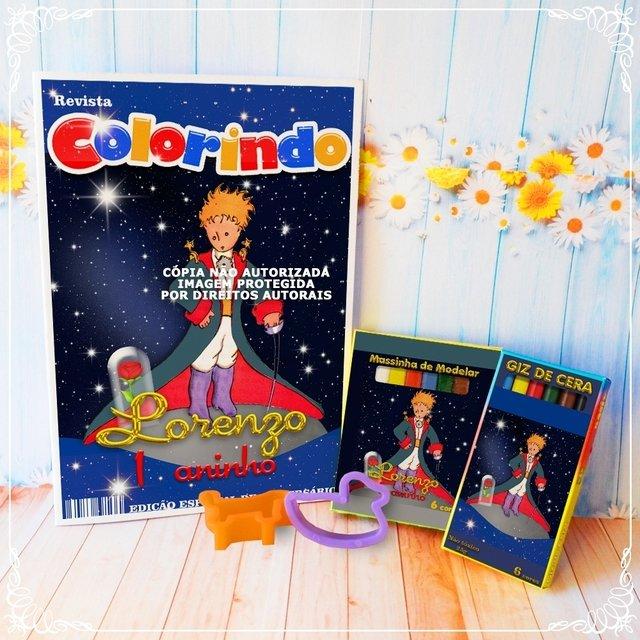 Kit Colorir Pequeno Principe Personalizado Revista Giz Massinha